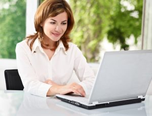 Woman Searching Online