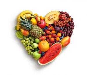 fruta con forma de corazón